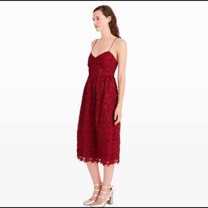 Club Monaco Red Lace Dress